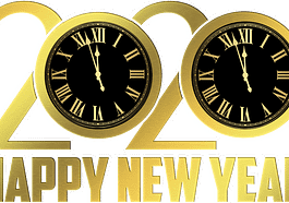 Happy New Year New Year Clock