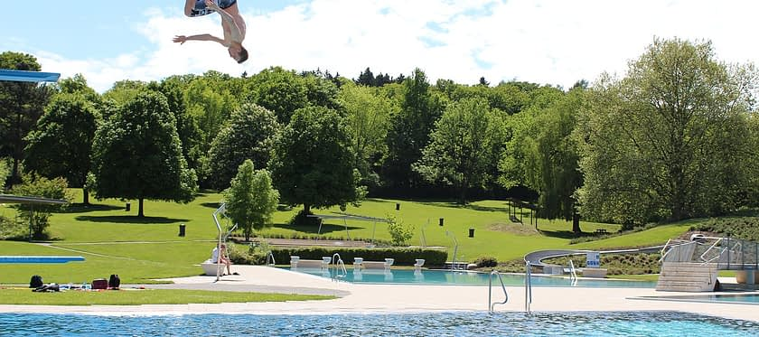 Outdoor Pool Jump Plunge